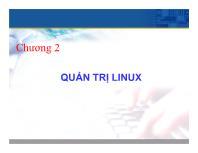 Bài giảng Hệ điều hành Unix - Chương 2: Quản trị Linux