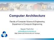 Bài giảng Kiến trúc máy tính - Chương: What is Computer? - Nguyễn Thanh Sơn