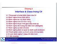 Bài giảng Mẫu thiết kế - Chương 3: Interface & Class trong C#