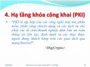 Bài giảng Quản lý khóa trong mật mã - Phần 4: Hạ tầng khóa công khai (PKI) - Nguyễn Hiếu Minh