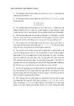 Bài tập phần Lập trình cơ bản