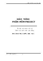 Giáo trình Phần mềm Project