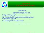Bài giảng Hệ thống máy tính và ngôn ngữ C - Chương 5: Lập trình hợp ngữ LC-3