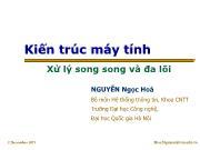 Bài giảng Kiến trúc máy tính - Chương 9: Xử lý song song và đa lõi - Nguyễn Ngọc Hóa
