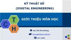 Bài giảng Kỹ thuật số - Chương 2: Cổng logic - Cao Thị Thu Hương