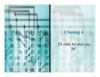 Bài giảng môn Cấu trúc máy tính - Chương 4: Tổ chức bộ nhớ của PC