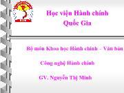Bài giảng Tâm lý học đại cương - Nguyễn Thị Minh