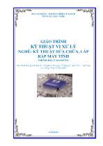 Giáo trình Kỹ thuật vi xử lý - Nghề: Kỹ thuật sửa chữa, lắp ráp máy tính