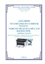 Giáo trình Sửa chữa máy in và thiết bị ngoại vi - Nghề: Kỹ thuật sửa chữa, lắp ráp máy tính